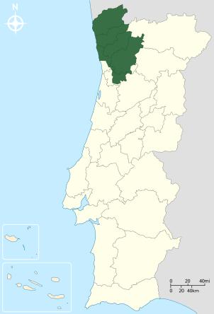 vinho verde mapa